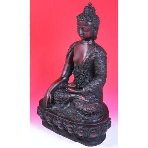 インドのレジン製仏像 薬師如来 樹脂 神像 アジアン雑貨 エスニック DO-ST79|mahanadi