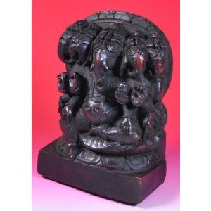 インドの樹脂製神像 五面ガネーシャ DO-ST86|mahanadi