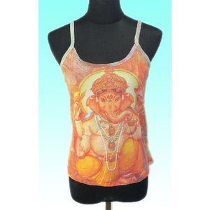 インドの神様キャミソール ガネーシャ ヒンドゥー アジアン エスニック雑貨 FU-CAMI1|mahanadi