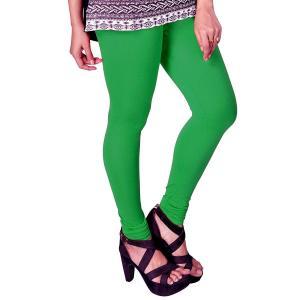 超シンプル・スキニーパンツ レディース 緑 腰紐無し ゴムのみタイプ インド製 アジアン エスニック 服 FU-CRD19316-2GR|mahanadi