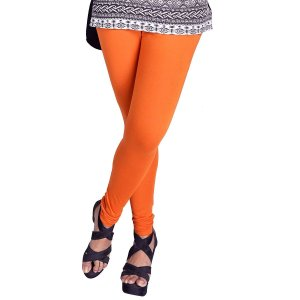 超シンプル・スキニーパンツ レディース オレンジ 腰紐無し ゴムのみタイプ インド製 アジアン エスニック 服 FU-CRD19316-2OR|mahanadi