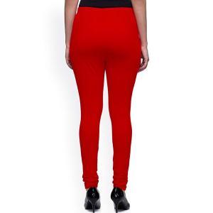 超シンプル・スキニーパンツ レディース 赤 腰紐無し ゴムのみタイプ インド製 アジアン エスニック 服 FU-CRD19316-2RD|mahanadi|02