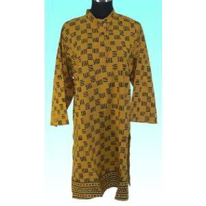 インド製アジアンエスニック・シャツ レディースXL 七分袖 ヒッピー レイブ バックパッカー|mahanadi