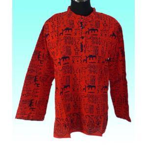 インド製 アジアン エスニックシャツ レディースL ヒッピー レイブ バックパッカー|mahanadi