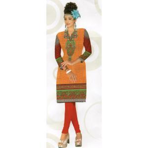 インド製エスニックシャツ七分袖 膝丈 レディースL  アジアン エスニックボタニカル柄 FU-F-CAS20502-2|mahanadi