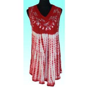 インド製ヒッピー ゆったりセミロングシャツ ノースリーブ アジアン エスニック バックパッカー|mahanadi