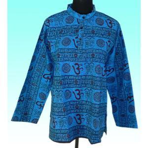 インド製アジアン エスニックシャツ レディースXL ヒッピー レイブ バックパッカー|mahanadi