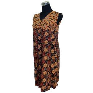 インド綿のアジアン・エスニックシャツ レディース ノースリーブ ヒッピー FU-F-CAS279|mahanadi