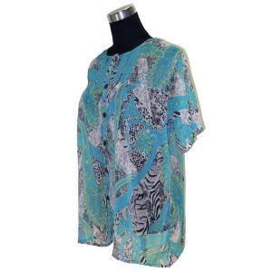 インド製エスニックシャツ ブラウス レディースM アジアン FU-F-CAS308|mahanadi
