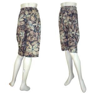 インド製花柄膝丈パンツ レディース エスニック アジアン|mahanadi