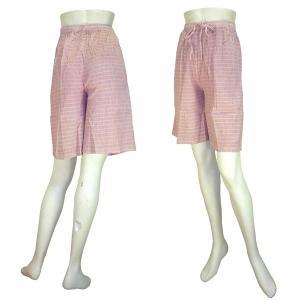 インド製べーシック膝丈パンツ シワ加工 レディース|mahanadi