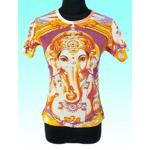インドの神様Tシャツ ガネーシャ FU-F-TS40|mahanadi