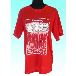 ラオスのラオ文字Tシャツ ラオ語の「あいうえお」 レディース FU-F-TS55|mahanadi
