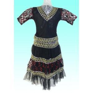 (70サイズ) 女児用インドの民族衣装レヘンガ(ランガ) FU-GKD-TRA1|mahanadi
