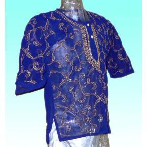 (75サイズ) 女児用インド製シャツ(クルティー) FU-KD-CAS4|mahanadi