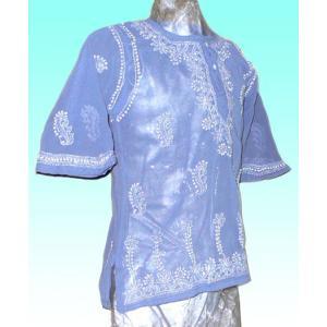(75サイズ) 女児用インド製シャツ(クルティー) FU-KD-CAS5|mahanadi