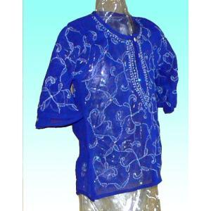 (75サイズ)女児用インド製シャツ(クルティー) FU-KD-CAS6|mahanadi
