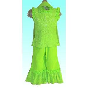 (80サイズ) 女児用インドの民族衣装パンジャビドレス FU-KD-TRA12|mahanadi