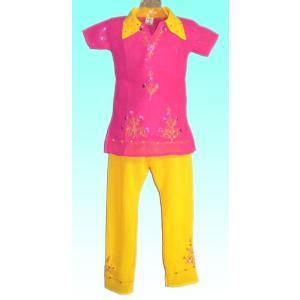 (90サイズ)女児用インドの民族衣装パンジャビドレス FU-KD-TRA16|mahanadi