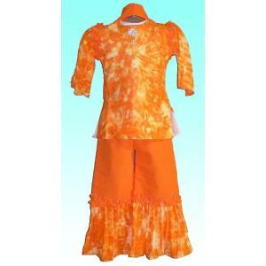 (100サイズ) 女児用インドの民族衣装パンジャビドレス FU-KD-TRA17|mahanadi