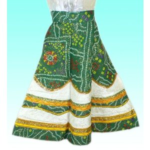 女児用インドの民族風スカート FU-KD-TRA26|mahanadi