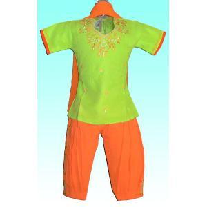 (70サイズ) 女児用インドの民族衣装パンジャビドレス FU-KD-TRA9|mahanadi