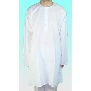 インドの男性用民族衣装クルター・パジャマ  白 (サイズ有)|mahanadi