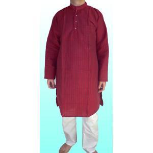 インドの男性用民族衣装クルター・パジャマ(XL) FU-KR78|mahanadi