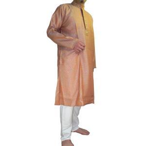 インドの男性用民族衣装クルターパジャマ (L & XL)ちょっと豪華版 スタンドカラー|mahanadi