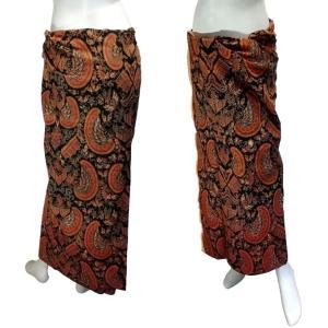 ジャワ更紗のサロン アジアの腰巻民族衣装 プリント バティック インドネシア  ソロ産 ロンジー ルンギー エスニック アジアン FU-LNG19415-2|mahanadi