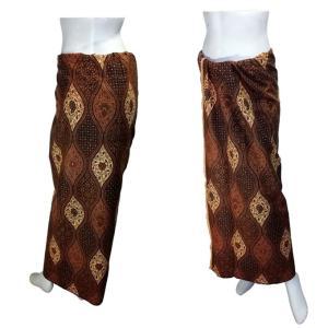 ジャワ更紗のサロン アジアの腰巻民族衣装 プリント バティック インドネシア  ソロ産 ロンジー ルンギー エスニック アジアン FU-LNG19415-3|mahanadi