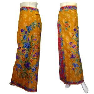 インドネシア製サロン アジアの腰巻民族衣装 プリント 花柄 ロンジー ルンギー エスニック アジアン FU-LNG20524-1|mahanadi
