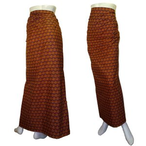 インドネシア製サロン アジアの腰巻民族衣装 プリント 幾何学 ロンジー ルンギー エスニック アジアン FU-LNG20524-2|mahanadi
