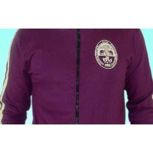 タイのビール「ビア・チャン」ジャケット 男性用 紫(M)|mahanadi|04