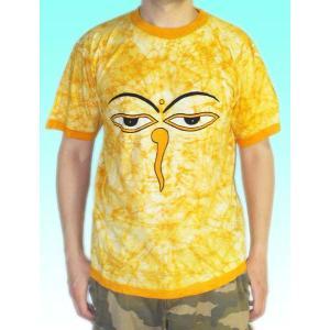 インドの神様Tシャツ 仏陀の目・バティック FU-M-TS27|mahanadi
