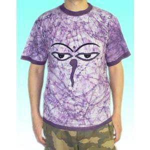 インドの神様Tシャツ 仏陀の目・バティック FU-M-TS28|mahanadi