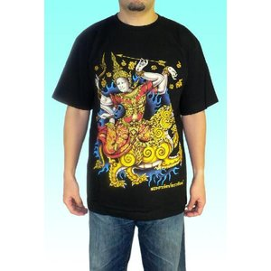 タイのヒンドゥー神様Tシャツ ドゥルガー メンズ|mahanadi