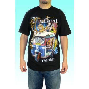 タイランド・トゥクトゥクTシャツ メンズ アジアン|mahanadi