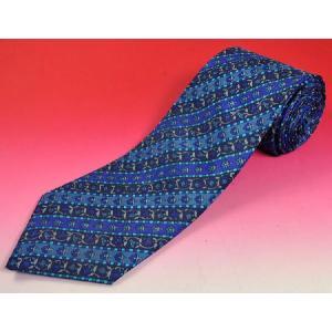 唐草模様のインド製ネクタイ FU-NECK103|mahanadi
