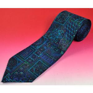 幾何学模様のインド製ネクタイ FU-NECK104|mahanadi