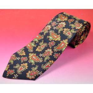 ペイズリー柄のインド製ネクタイ シルク アジアン雑貨 エスニック|mahanadi