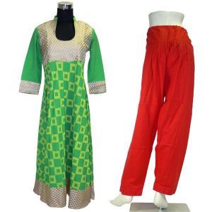 インド民族衣装パンジャビドレス2点セット L サルワールカミーズ アジアン エスニック|mahanadi