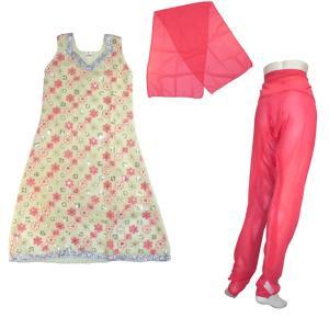 インド民族衣装パンジャビドレス3点セット S サルワールカミーズ アジアン エスニック|mahanadi