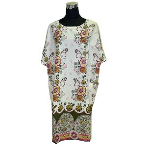 モダンスタイルのパンジャビドレス2点セット(L) インドの民族衣装 サルワールカミーズ ノースリーブ|mahanadi|02