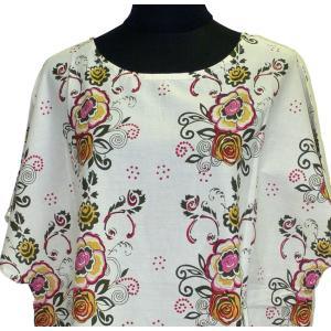 モダンスタイルのパンジャビドレス2点セット(L) インドの民族衣装 サルワールカミーズ ノースリーブ|mahanadi|03