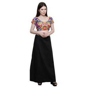 インド民族衣装「サリー」用ペティコート 黒 アジアン エスニック コスプレ ネパール スリランカ バングラデシュでも|mahanadi