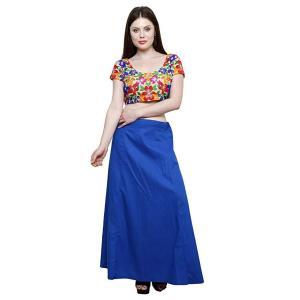 インド民族衣装「サリー」用ペティコート 青 アジアン エスニック コスプレ ネパール スリランカ バングラデシュでも|mahanadi