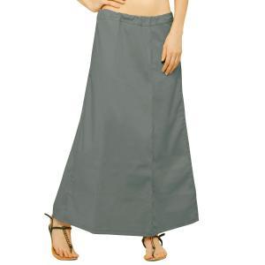 インド民族衣装「サリー」用ペティコート グレー アジアン エスニック コスプレ ネパール スリランカ バングラデシュでも|mahanadi