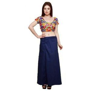 インド民族衣装「サリー」用ペティコート 紺 アジアン エスニック コスプレ ネパール スリランカ バングラデシュでも|mahanadi