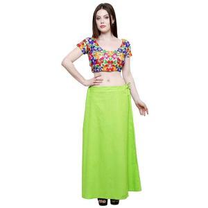 インド民族衣装「サリー」用ペティコート 黄緑 アジアン エスニック コスプレ ネパール スリランカ バングラデシュでも|mahanadi